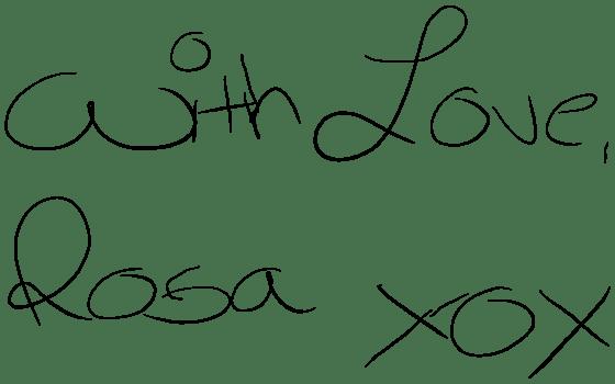 With Love Rosa XOX