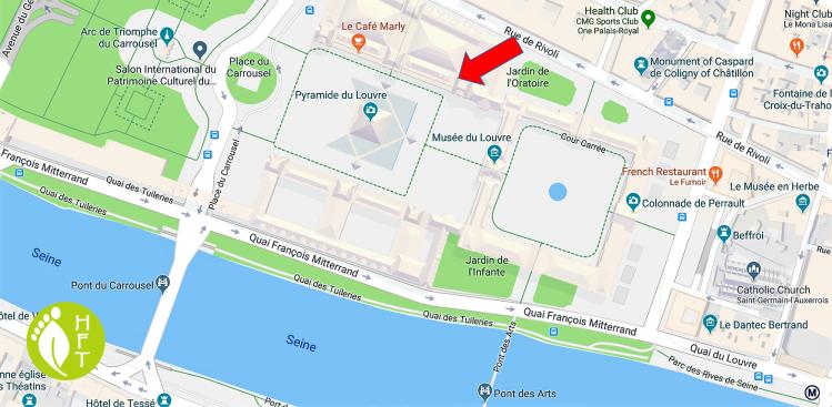 Paris Map Louvre Museum