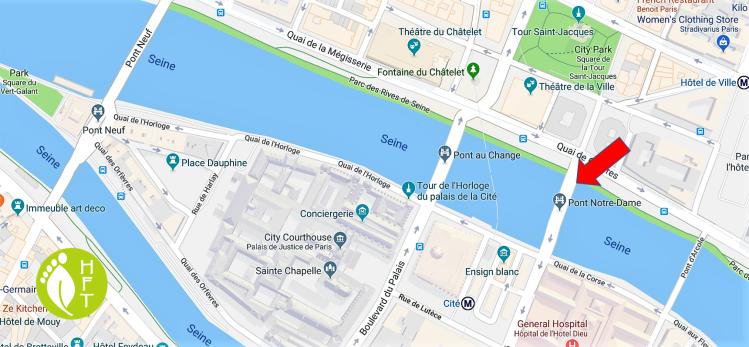 Paris Map of Pont Notre Dame location