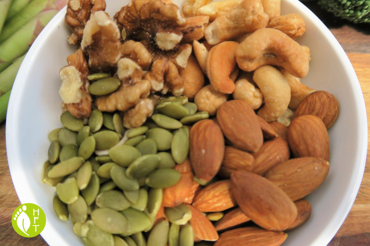 vegan and vegetarian source of zinc and iron pumpkin seeds and nuts