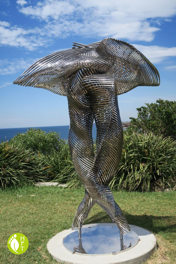 Sydney Sculptures by the Sea Sculpture Embrace by Andrew Rogers