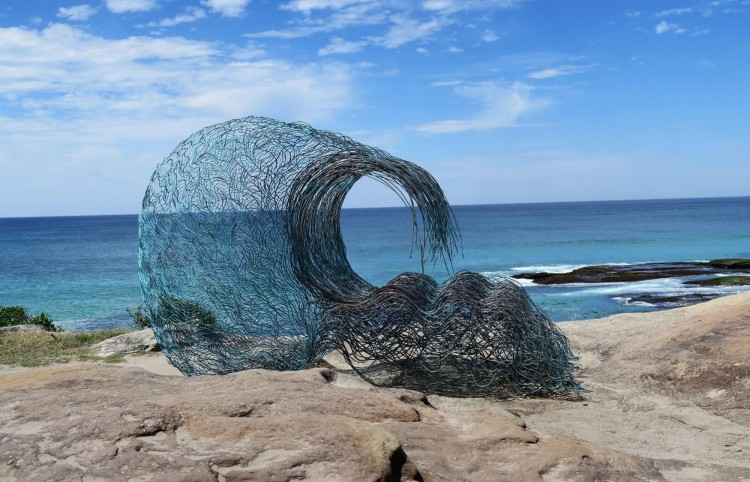 Sydney Sculptures by the Sea Sculpture Wave Within by Sandra Pitkin FEATURE